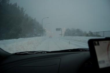 こんな天気の日に浜田道を北へ