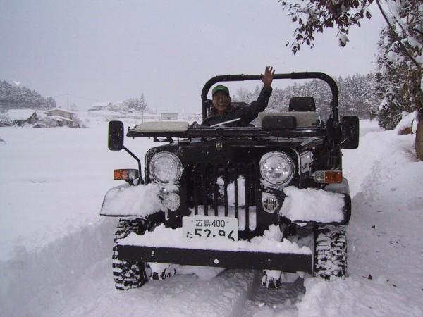 雪が降ってもオープンで(今回の雪ではありませんけど)