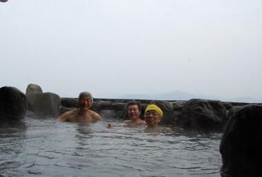 湯谷湾を見渡す露天風呂