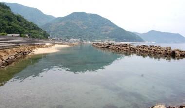 大島を一周中に車を停めた海岸