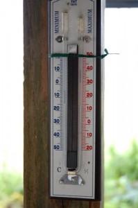 今朝の気温は14℃