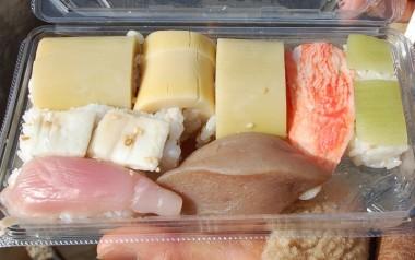 広さんから差し入れのお寿司、飽きのこない優しい味