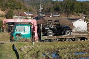 四トン車もジープも同時車検