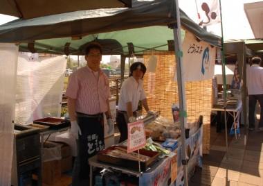 世羅から来られた人気の豆腐屋さん、きなこパンも美味しい