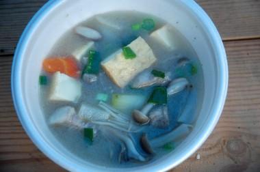 今年の芋煮は薄味で素材の味が生かされていた