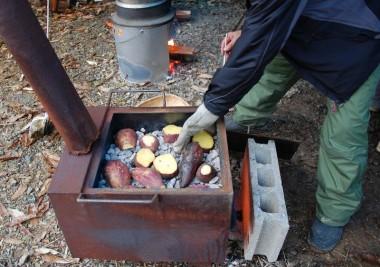 焼きの入った焼き芋