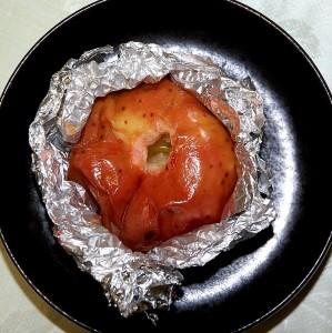 最後は焼きリンゴのデザート 果肉はトロトロで甘味と酸味が絶妙なバランスだった