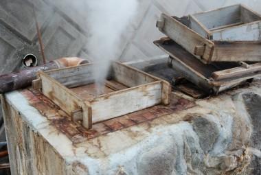 天然の蒸気釜