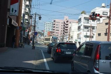 熊本市内の路面電車
