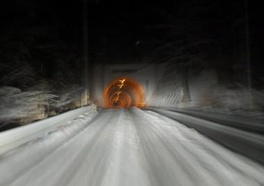 家に近づいたらすっかり雪道に