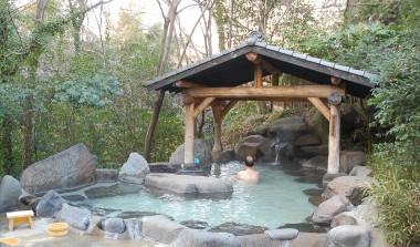 今日は景色の良い露天風呂へ