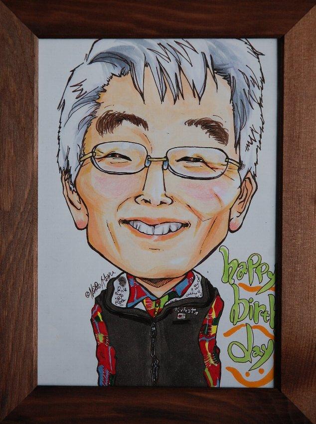 誕生日プレゼントに、TAMUさんから頂いた似顔絵