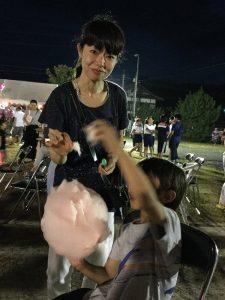祭りと言えば 綿菓子かな?