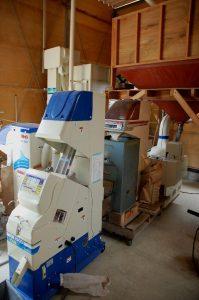 籾摺りから仕上がりまでの機械