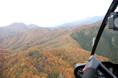広島と島根の県境付近の山々