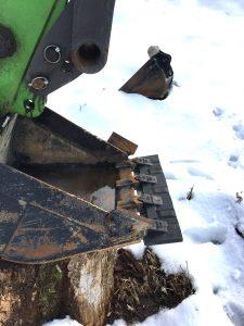 雪が融けたら農地改良をスタート