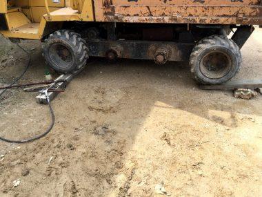 ジャッキを使わないでタイヤを外す