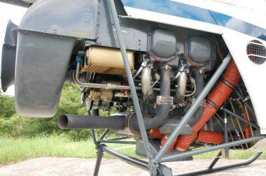 エンジンはライカミング社製の水平対向4気筒エンジン