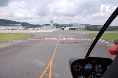 ⑤駐機は管制塔正面のNO1スポットだった