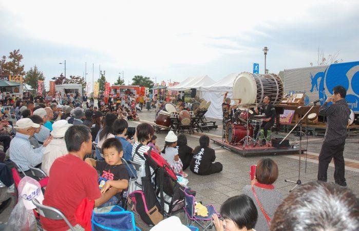 和太鼓フェスティバルということで 海外公演から帰ったばかりの 【太鼓ユニット我龍】