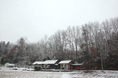 雪は思っていたよりも少なかった