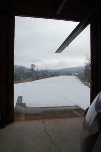 晴れて雪はかなり融けていた