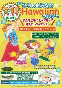 フラガール絵:玲子さん 食品絵:マユミさん チラシ作り:啓子さん