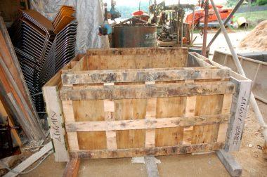 パレットでボカシの発酵枠を作る