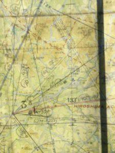 航空図を見ながら