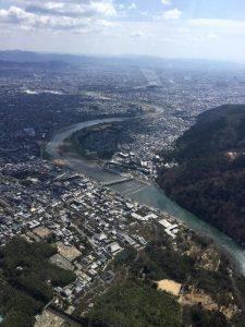渓谷が終わったら渡月橋や中ノ島