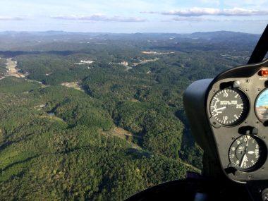 目的地が近くなって降下中2,540ft