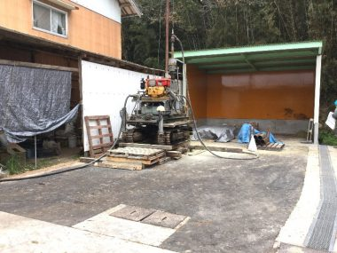 今回は建物にくっついての掘削作業