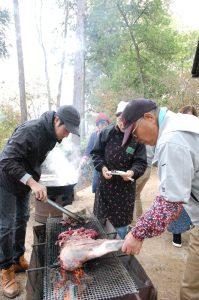 イノシシ、鹿の焼肉