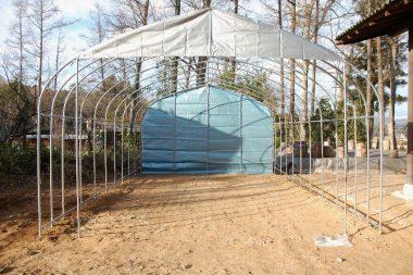 後ろテントと前入口の上側