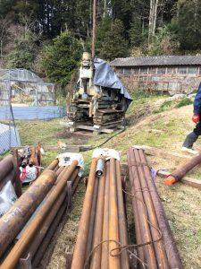 掘削機材設置