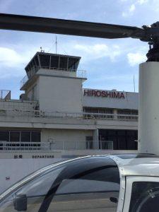 まもなく取り壊される管制塔と空港ビル