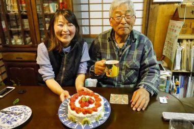 誕生日のお祝いにハナがケーキを作ってくれた