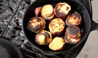 トウモロコシ ナス さつま芋も焼いて
