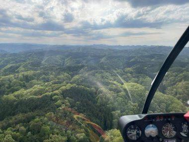 目標の取りにくい中国山地を進路285度で1時間のフライト
