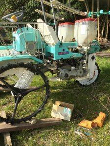 三輪四条植え肥料は米ぬかペレット