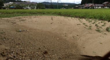 被害が無かったと思っていたが土砂の流入